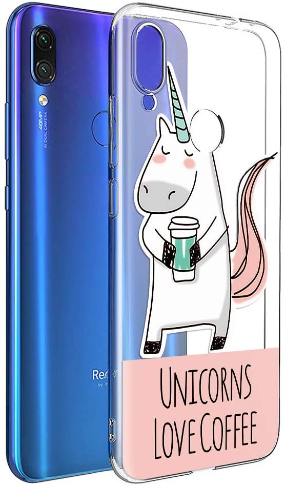 funda movil unicornio cafe